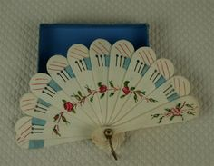Antique All Original Miniature Bone Fan for French Fashion Doll or from mybebes on Ruby Lane