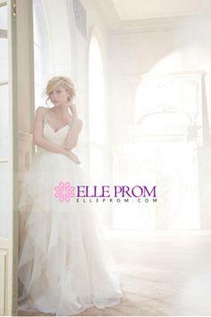 2015 Wedding Dresses Off The Shoulder A Line Organza With Applique USD 259.99 EPP58A3PEZ - ElleProm.com