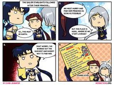 MoonSticks Sailor Moon Comic/Doujinshi #73 featuring Sailor Starlights: Sailor Star Fighter/Seiya Kou, Sailor Star Maker/Taiki Kou, Sailor S...