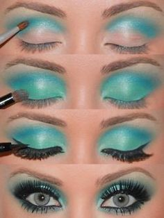 Blue. i do  this all the time with my two mac eyeshadows love it.... Great summer look