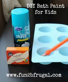 DIY Bath Paint for Kids