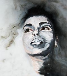 Body paint in Milk Technical Study of the Artist Alexa Meade Model: Kellie Le Brocq Artist & Photographer: Pixie Lawrie