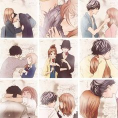 Most popular tags for this image include: ao haru ride, anime, love,