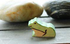 Pond Frog Wooden Waldorf Inspired Eco by MonkeyandBeanDesigns, $8.00