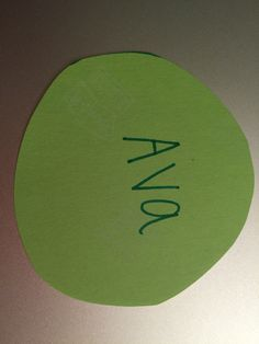 Green circle on Velcro as name tag. Teacher may quietly walk by and change to yellow after warnings. Students will bring yellow circle and fill out behavior calendar