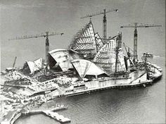The Sydney Opera House by architect Ove Arup & Partners was built in Sydney, Australia in Famous Buildings, Famous Landmarks, Sydney Australia, Australia Travel, Gaudi, Old Pictures, Old Photos, South Wales, Sydney Opera