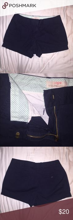 J. Crew Navy Chino Shorts gently worn, one back pocket, great condition J. Crew Shorts