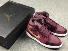 5b5591c9b65 Nike Air Jordan 1 Heiress Features Red Velvet And Gold 832596-640 Mens  Womens Basketball
