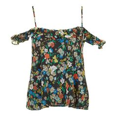 Look stylish in florals in this off shoulder top. The frill detail adds to the girlish sophistication.