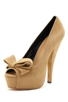 Bucco Liz Peep Toe Bow Pump, I would die wearing thee but they're fun to look at!