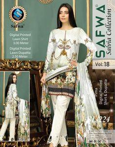 Safwa Salvia Lawn Collection Affordable Brand for Pakistani Women Clothes, Pakistani Fashion. Pakistani Fashion Casual, Suit Shirts, Design Seeds, Salvia, Pakistani Dresses, Textile Design, Kurti, Printed Shirts, Designer Dresses