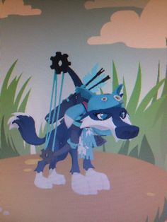 Animal Jam Wolf - I have the same exact outfit, but except with the neon bow and with a phantom tail.