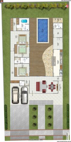 House Helpful Strategies For modern home design kitchen Dream House Plans, Modern House Plans, Small House Plans, House Floor Plans, Layouts Casa, House Layouts, Home Design Plans, Plan Design, Floor Plan Layout