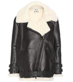 Acne Studios - Velocite shearling-lined leather jacket - Acne Studios   oversized shearling jacket e3e3c429b21