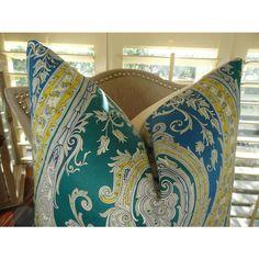 """Plutus Fun Paisley Handmade Throw Pillow Color Multi, Size 20"""" x 20"""" - Plutus Brands - PB11361-2020-SP"""