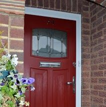 Red 1930's style composite door