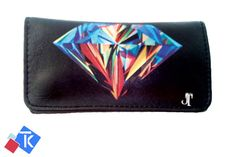 Diamond Tobacco Case Rolling Cigar Pouch Wallet PU Leather Cigar