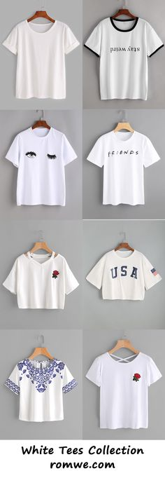 white tees collection 2017 - romwe.com