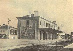 C. A. Moutinho | Estação Ferroviária da / Railway Station of Azambuja | 1935 #Azulejo