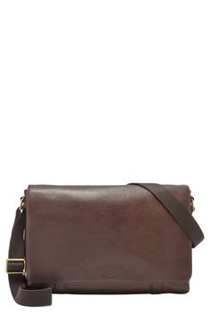 Fossil 'Aiden' Leather Messenger Bag