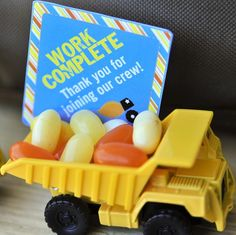Construction Birthday Party Favor