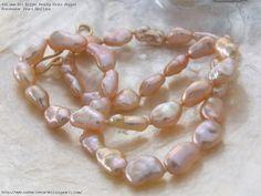 AAA Bit Bigger Peachy Keshi Nugget Freshwater Pearl Necklace