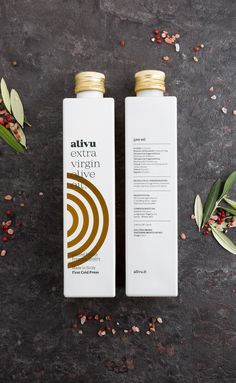 Alivu olive oil packaging by Solid