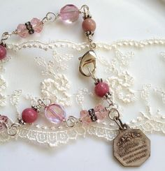 St. Therese of Lisieux Vintage Medal Bracelet by gailgirondesign