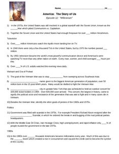 America The Story Of Us Worksheets - america the story of us ...
