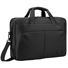 Laptop Bag BRINCHTM 156 inch Nylon Waterproof Roomy Stylish Laptop Shoulder Messenger Bag Handle Bag Tablet Briefcase For 15156 Inch LaptopTabletMacbookNotebookBlack -- More info could be found at the image url. Note:It is Affiliate Link to Amazon.