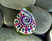 Bohemian Kaleidoscope / Painted Rock / Sandi Pike Foundas