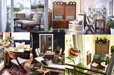 Collage  of IKEA Applaro patio deck furniture