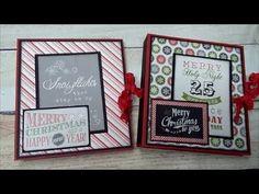 Christmas Craft Fair Folio with Tutorial Christmas Mini Albums, Christmas Craft Fair, Christmas Card Crafts, Christmas Minis, Outdoor Christmas Decorations, Christmas Photos, Christmas Tree, White Christmas, Echo Park