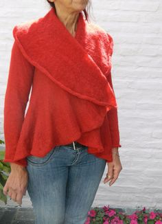 Its my birthday by Jan Marriott on Etsy Sweater Jacket, Cardigans For Women, Lady In Red, Winter Fashion, Bell Sleeve Top, Amnesia, April Showers, Free Shipping, Trending Outfits