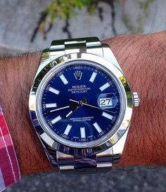 "1,062 Likes, 5 Comments - THE WATCHLOVERS  (@thewatchlovers) on Instagram: ""DJ2️⃣ 116300 Rolex DateJust II Blue Index Dial Version - My favourite!!! How do you like this…"""