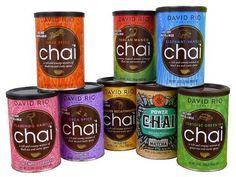 David Rio Chai Tea, 3 Tins 398G To Chooose!