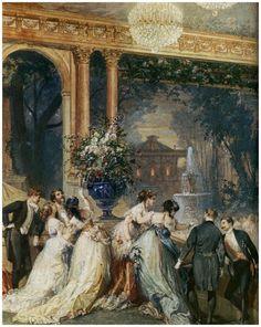 Une soirée aux Tuileries - Henri Baron (détail)