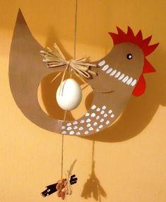 Resultado de imagem para velikonoční tvoření z papíru Easter Crafts For Kids, Fun Crafts, Diy And Crafts, Arts And Crafts, Paper Crafts, Chicken Crafts, Easter Printables, Galo, Spring Crafts
