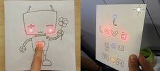 paper circuit with circuit stickers