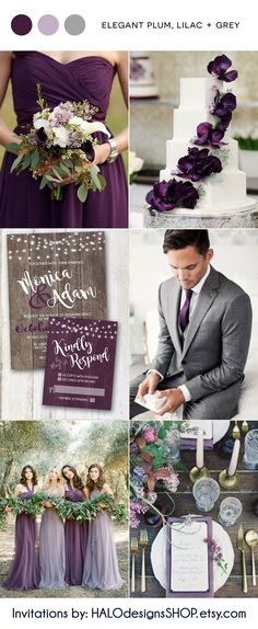Plum, lilac and grey wedding inspiration october wedding colors schemes / fall wedding ideas colors october / fall wedding ideas november / fall winter wedding / fall colors for wedding Winter Bridesmaid Dresses, Winter Bridesmaids, Bridesmaid Bouquets, Bridesmaid Ideas, Bridesmaid Color, Purple Floral Bridesmaid Dresses, Fall Dresses, Long Dresses, Destination Bridesmaid Dresses