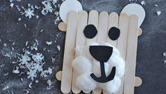 Popsicle Stick Polar Bear – Kid Craft