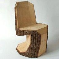 banco feito com tronco de madeira                                                                                                                                                     Mais