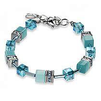 Signature Cube Bracelet, 4528B, Coeur De Lion Jewelry, Turquoise