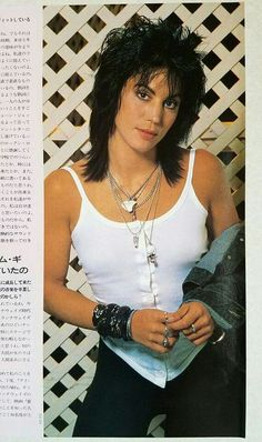Joan Jett  The first woman to walk the black carpet and be inducted in as a ROCK GOD!