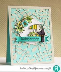 Hello! I'm popping in to share a card I created using Reverse Confetti stamps and dies, including another one of my favorites illustrat...