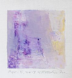 Apr. 5 2017  Original Abstract Oil Painting  9x9 painting