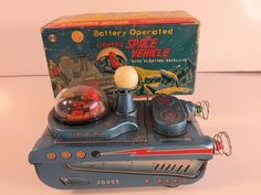 Masudaya Lighted Space Vehicle. Battery Op toy from 60s/ebay