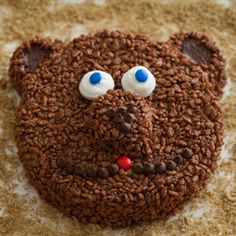 Coco Pops Bear Cake - http://www.pindandy.com/pin/2027/