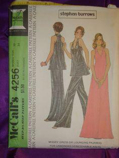anni 1970 anni 70 vintage STEPHEN BURROWS sera Halter Dress o