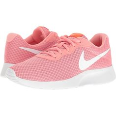 22eaf5f52d2d Nike Tanjun (Lava Glow Total Crimson White) Women s Running Shoes ( 53) ❤  liked on Polyvore featuring shoes